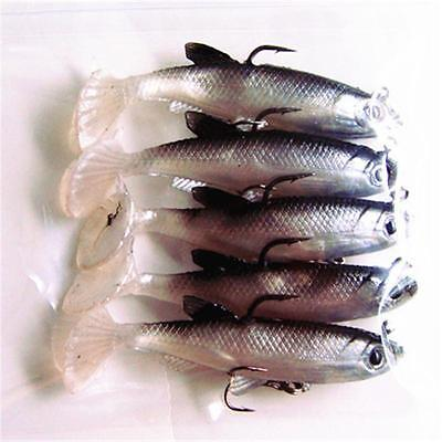 Rubber Fish (Rubber Soft Tiddler Bass Fishing Plastic Lure Bionic Bait Tackle Hook Outdoor)