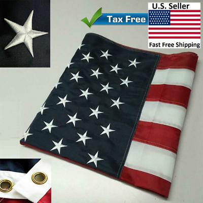 G128 � American Flag US USA | 4x6 ft | Embroidered Stars, Sewn Stripes