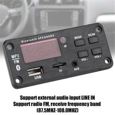 Bluetooth 5.0 MP3 Decoder Board Audio Module Support USB TF FM Radio For Car