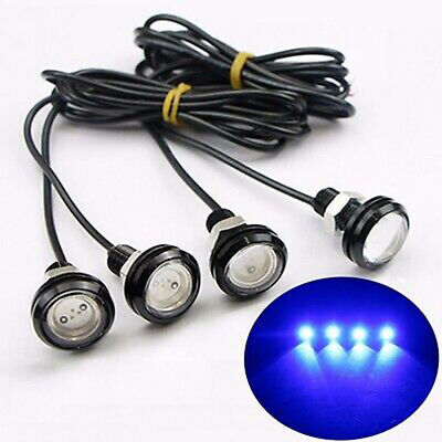 4x Waterproof Blue  LED Rock Light Underbody Trail For JEEP SUV Off-Road Truck