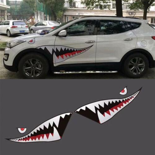 Universal Plastic Vinyl Gray Shark Pattern Car Scratch Cover Decal Sticker