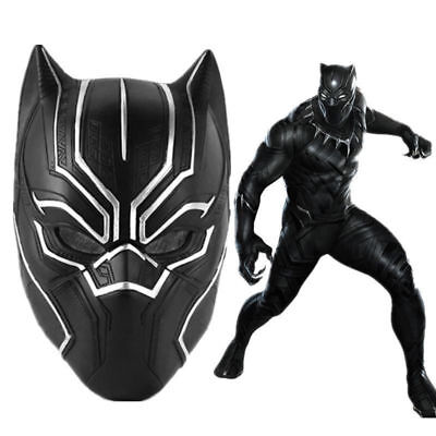 Black Panther Cosplay Resin Mask Costume Adults Helmet Halloween Party Prop](Black Panther Party Halloween Costumes)