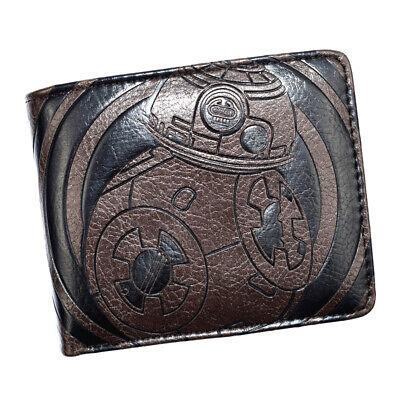 Star wars Embossed Leather Wallet Zipper Short Bi-fold Card Holder Purse