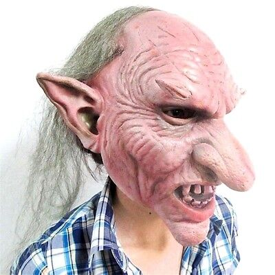 Creepy Goblin Devil Latex Mask For Halloween Scary Horror Costume Party - Scary Props For Halloween