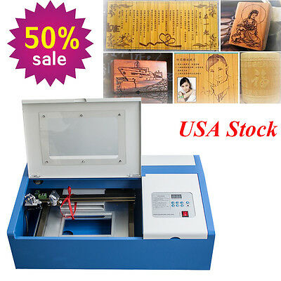 Usps 40w Co2 Laser Engraving Cutting Machine Engraver Cutter Safety Diy Usb Port