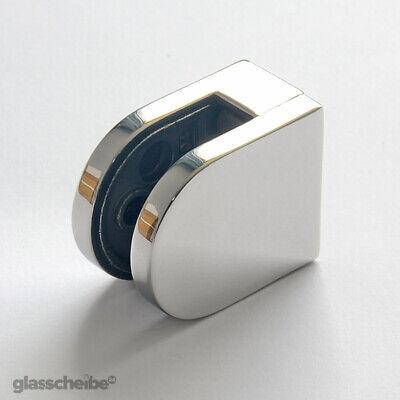 Edelstahlhalterung für Glas 8mm Klemmhalter für Duschwand Glashalter Spuckschutz