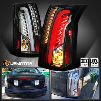 2003-2007 Cadillac CTS Black LED Bar Tail Lights Brake Lamps Left+Right