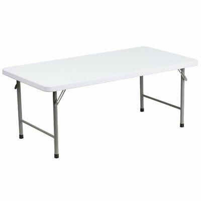"Flash Furniture 24""W x 48""L x 19""H Kid's Granite White Plast"