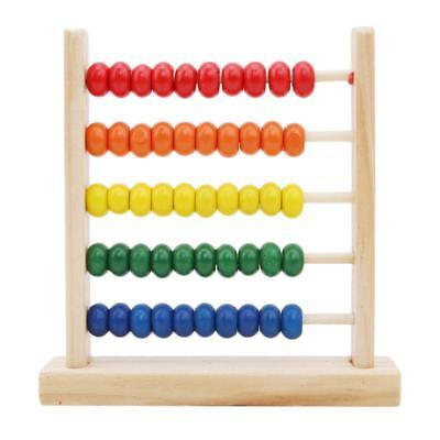 Kids Wooden Bead Abacus Counting Frame Educational Learn Maths Toys SL