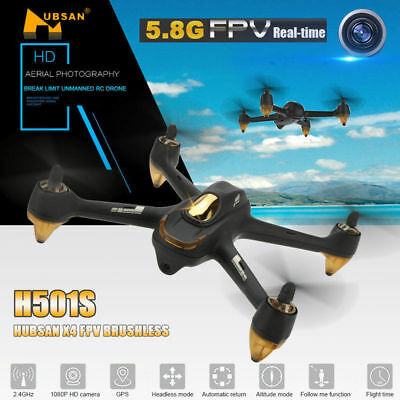 Hubsan H501S X4 Pro Drone FPV GPS RC Quadcopter Brushless 1080P HD Camera BNF US