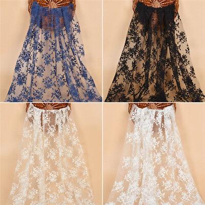 DIY Brautkleid Lace mesh Nähen Kleid Stoffe CHIC Dekostoff Weiß Schwarz Hochzeit