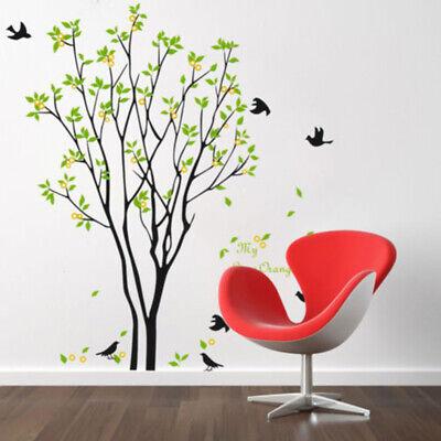 Grande Árbol Pájaros Hojas Adhesivo Pared Pegatinas para Salón Dormitorio Hogar