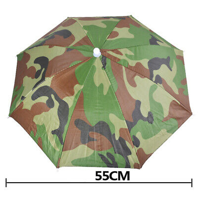 Sun Umbrella Hat Outdoor Hot Foldable Golf Fishing Camping Headwear Head Cap (Fishing Umbrella Hat)