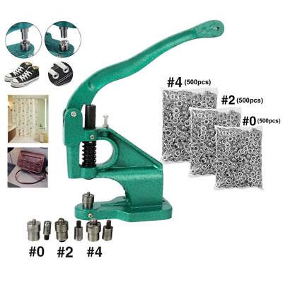 Grommet Machine Hand Press 3 Die 0 2 41500 Grommets Silver Eyelet Bannerus