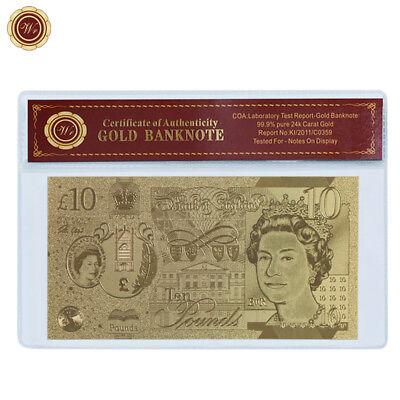 WR Gold Great Britain 10 Pounds 2017 New QEII Jane Austen Polymer Note Best Gift