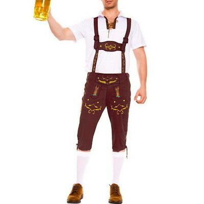 Fashion Oktoberfest Bavarian German Beer Waiter Halloween Costume Fancy Dress - Halloween Waiter Costume