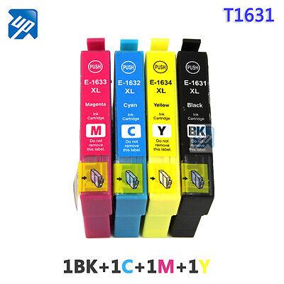 4 NonOEM 16XL T1636 Ink Cartridges for Epson WF-2630WF WF-2650DWF WF-2660DWF