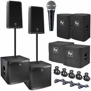 Electro Voice ZLX-12P Powered Speaker & Subwoofer Duo Package