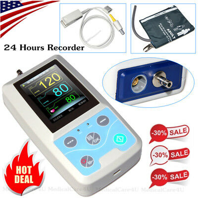 Ambulatory Patient Monitor Vital Signs Monitor Spo2 Nibp Hr Pr 4 Parameters Pm50