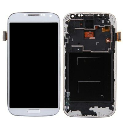For Samsung Galaxy S4 i9500 i337 M919 LCD Digitizer Touch Screen+Frame White NEW