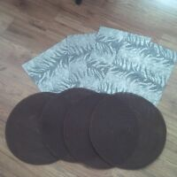 2 Sets of Kitchen Placemats