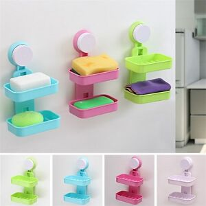 solide ventouse mur venteuse support porte savon douche salle de bain tasse. Black Bedroom Furniture Sets. Home Design Ideas