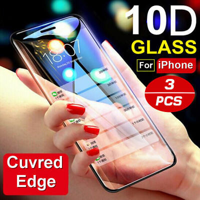 10D Curve For iPhone X XS MAX XR Full Cover Real Tempered Glass Screen -