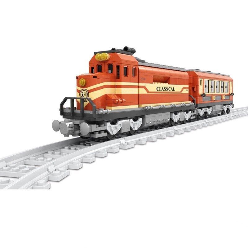630pcs klassischer Zug Train Modell Bausteine Kinderspielzeug Geschenk Sets