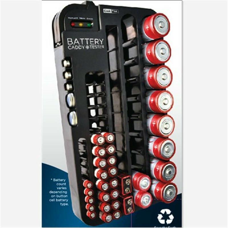 72 Battery Storage Organizer Outdoor Camping Hiking Rack Holder Tester Case Tool