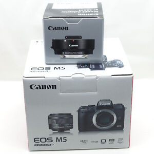 Canon EOS M5 with EF-M 15-45mm IS STM Kit {1 week old, 0 clicks)