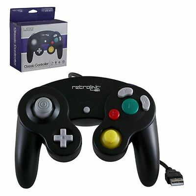Retrolink Wired Nintendo GameCube Style USB Controller For PC And Mac Black✔✔