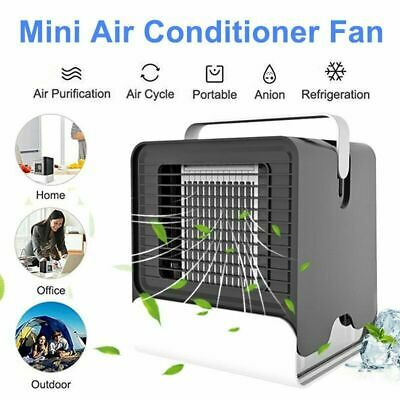 Mini Portable Air Conditioner Cooling Humidifier Desk Fans Purifier Home Office