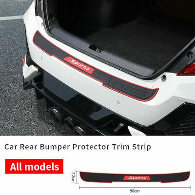 Auto Accessories Vehicle Scuff Plate Rubber Rear Bumper Rubbing Strips 90*7.2CM