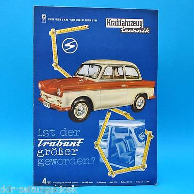 DDR KfT Kraftfahrzeugtechnik 4/1961 Trabant Ikarus Morris Vanguard VW 1,5 l