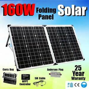 160w folding solar Panel Kit regulator bag caravan power charger Wangara Wanneroo Area Preview