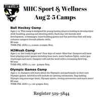MHC Sport & Wellness Camps Aug 2-5 - Ages 7-12