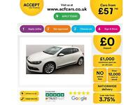 Volkswagen Scirocco FROM £57 PER WEEK.