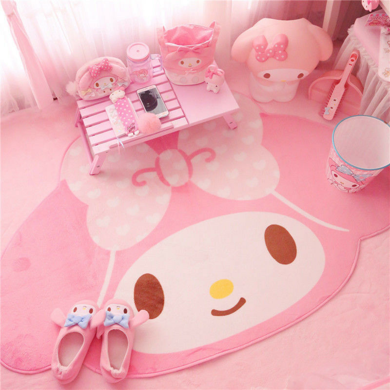 Kawaii Bowknot My Melody Kitty Carpet Door Mat Floor Rug Home Decor Non-slip
