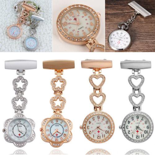 Schwesternuhr Krankenschwester Uhr Schwesternuhren Quarz Metall Herz Taschenuhr