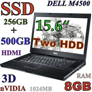 3D-Design DELL M4500 i7-QUAD (256GB-SSD + 500GB) 8GB nVIDIA HDMI