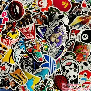 100 skateboard sticker Longboard laptop snowboard car surf vinyl decal Lot : )