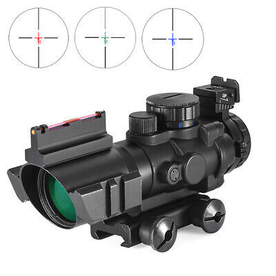 ACOG 4x32 Tactical Rifle Scope Optics Fiber Sight Hunting Rifle Airsoft Scopes