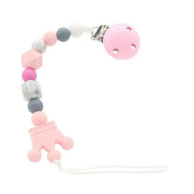 Silicone Baby Pacifier Clip Crown Pacifier Chain for Baby Teething Soother Chew