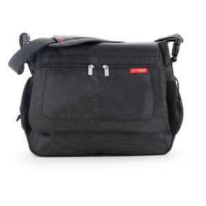 The Skip Hop Via Messenger Diaper Bag - Black
