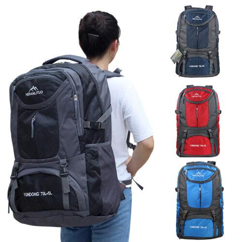 65l 75l waterproof backpack shoulder hiking bag