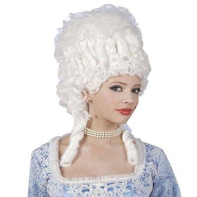 ÜCKE Marie Antoinette weiß Fasching Theaterperücke 1029 (Marie Antoinette Perücke)