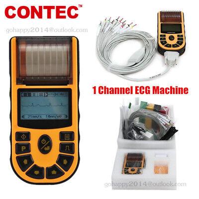 Portable Ecg Machine Digital 1 Channel 12 Leads Electrocardiograph Printer Fda