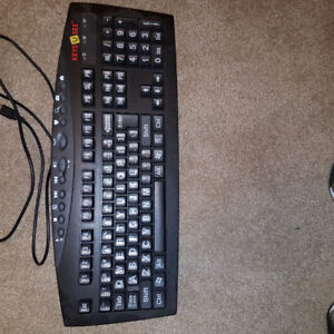 Computer keyboard for sight impaired