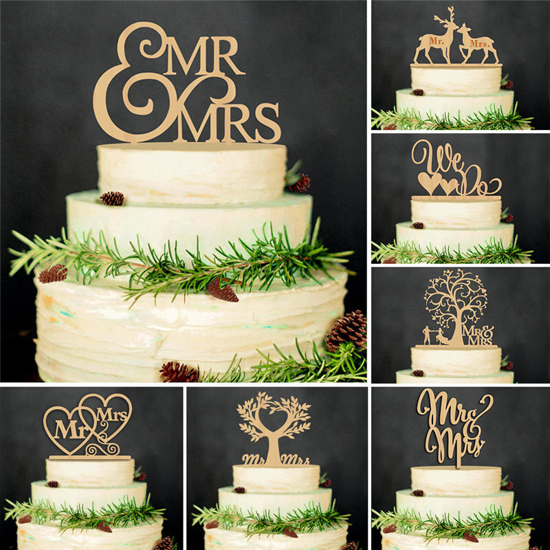 wooden wedding cake toppers wooden mr amp mrs cake topper wedding 1488