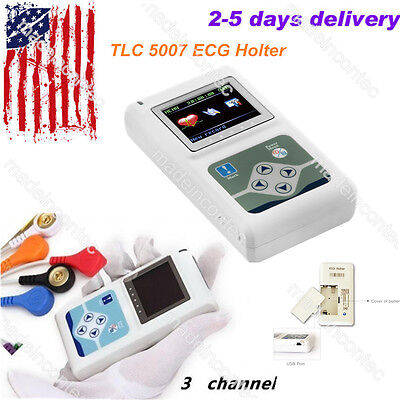 Ecgekg Holter System 3 Channel 24 Hours Recorder Monitorpc Software Usa Fedex